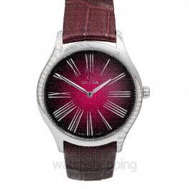 De Ville Tresor Quartz 36mm Quartz Red Dial Steel Unisex Watch