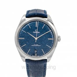 De Ville Tresor Co‑Axial Master Chronometer 40 mm Manual-winding Blue Dial Steel Men's Watch