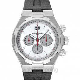 Vacheron Constantin Overseas Automatic Chronograph Silver Dial Black Leather Men's Watch