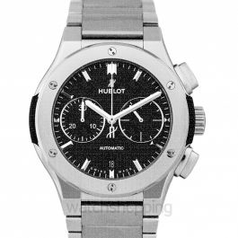 Classic Fusion Chronograph Titanium Bracelet Automatic Black Dial Men's Watch