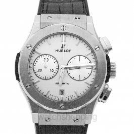 Classic Fusion Chronograph Titanium Opalin Automatic White Dial Men's Watch
