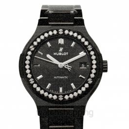 Classic Fusion Black Magic Bracelet Diamonds Automatic Black Dial Ceramic Ladies Watch