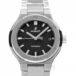 Classic Fusion Titanium Bracelet Automatic Black Dial Men's Watch