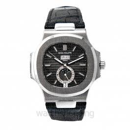 Nautilus Black Dial Men's Watch