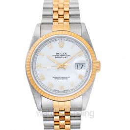 Datejust White Roman Steel/18K gold Did Jubilee 36mm