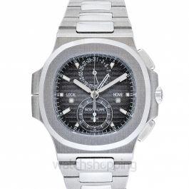 Nautilus Travel Time Chronograph Black Dial Men's Watch