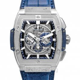Spirit Of Big Bang Titanium Blue Automatic Blue Dial Men's Watch