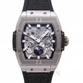 Spirit Of Big Bang Moonphase Titanium Automatic Skeleton Dial Men's Watch