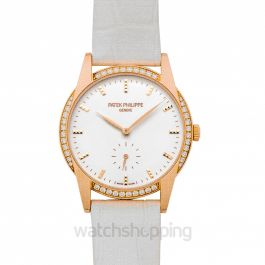 Calatrava White Dial Ladies Watch