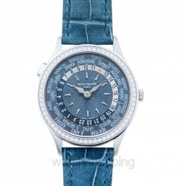 Complications World Time Automatic Diamond Blue Dial Ladies Watch