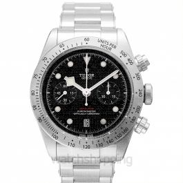 Heritage Black Bay Chrono Chronograph Stainless Steel Automatic Black Dial Men's Watch
