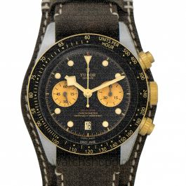 Heritage Black Bay Chrono S&G Swiss Steel Automatic Black Dial Men's Watch