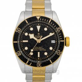 Heritage Black Bay Yellow Gold Automatic Black Dial Men's Watch