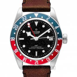 Heritage Black Bay Pepsi Blue and Red Bezel Stainless Steel Automatic Black Dial Men's Watch