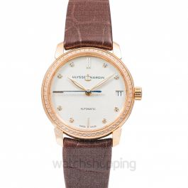 Classico Lady Classic 18ct Rose Gold With 60 Diamonds Automatic White Dial Ladies Watch