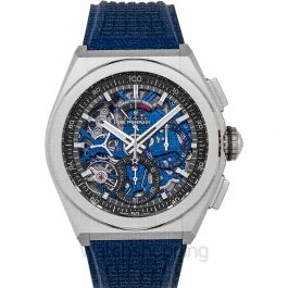 Zenith Defy El Primero 21 Blue Rubber Men's Watch