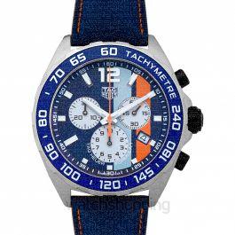 Formula 1 Chronograph Gulf Special Edition Quartz Blue Dial Ladies Watch