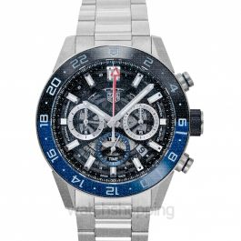 Carrera Calibre Heuer 02 GMT Automatic Skeleton Dial Men's Watch