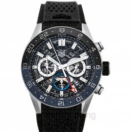Carrera Calibre Heuer 02 Chronograph Automatic Skeleton Dial Men's Watch