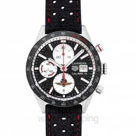 Carrera Chronograph Calibre 16 Automatic Black Dial Men's Watch