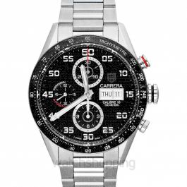 Carrera Carrera Calibre 16 Day-Date Automatic Chronograph Black Dial Men's Watch