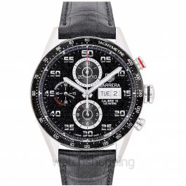 Carrera Calibre 16 DD Automatic Chronograph Black Dial Men's Watch