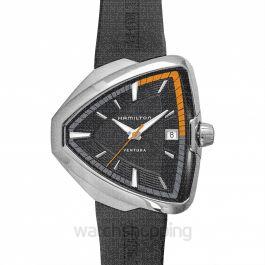 Ventura Quartz Black Dial Stainless Steel Men's Watch