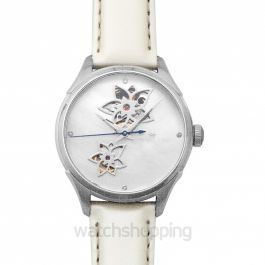 Jazzmaster Open Heart Automatic Mother of Pearl Dial Stainless Steel Ladies Watch