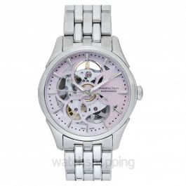 Jazzmaster Automatic Skeleton Dial Stainless Steel Ladies Watch