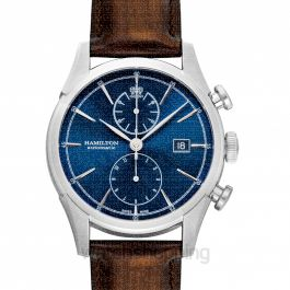 American Classic Spirit of Liberty Auto Chrono Automatic Blue Dial Stainless Steel Men's Watch