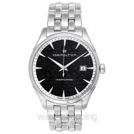 Jazzmaster Quartz Black Dial Stainless Steel Men's Watch