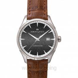 Jazzmaster Quartz Grey Dial Stainless Steel Men's Watch