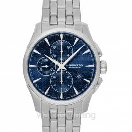 Jazzmaster Chronograph Automatic Blue Dial Stainless Steel Men's Watch