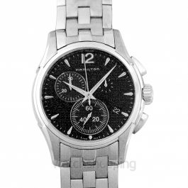 Jazzmaster Chrono Quartz Black Dial Stainless Steel Men's Watch