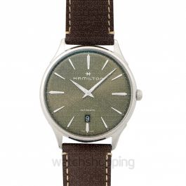 Jazzmaster Thinline Auto Bronze Steel Green/Leather 40mm