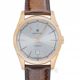 American Classic Automatic Silver Dial Rose Gold PVD Stainless Steel Men's Watch