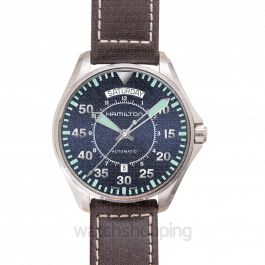 Khaki Aviation Automatic Blue Dial Stainless Steel Men's Watch
