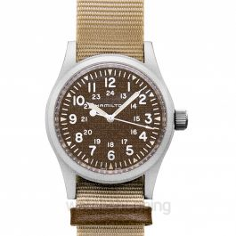 Khaki Field Manual-winding Brown Dial Stainless steel Men's Watch