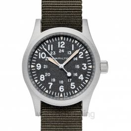 Khaki Field Black Dial Matt Stainless Steel Men's Watch