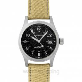 Khaki Field Hand Wind Black Dial Men's Watch 38mm