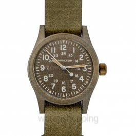 Khaki Field Mechanical Manual-winding Green Dial Stainless Steel Men's Watch