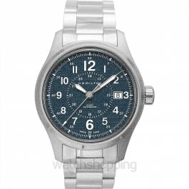 Khaki Field Automatic Blue Dial Stainless Steel Men's Watch