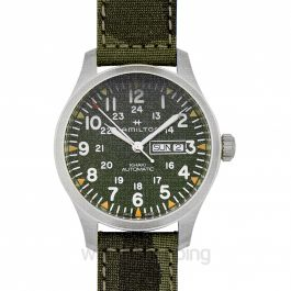 Hamilton Khaki Field Day Date Auto Green Steel/Textile 42mm