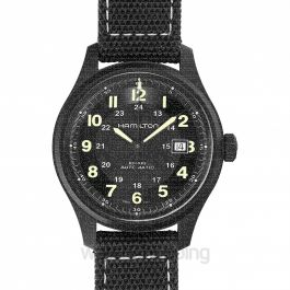 Khaki Field Automatic Black Dial Titanium Men's Watch