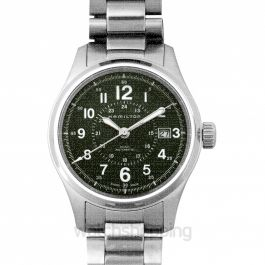 Khaki Field Green Dial Stainless Steel Men's Watch 40mm