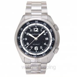 Khaki Aviation Automatic Black Dial Aluminium Men's Watch