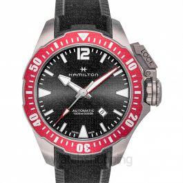 Khaki Navy Automatic Black Dial Titanium Men's Watch