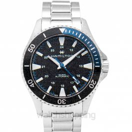 Khaki Navy Automatic Black Dial Stainless Steel Men's Watch