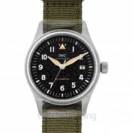 IWC Pilot's Watch Automatic Spitfire Stainless Steel Black NATO