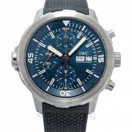 "Aquatimer Chronograph Edition ""Expedition Jacques-Yves Cousteau"" Automatic Blue Dial Men's Watch"